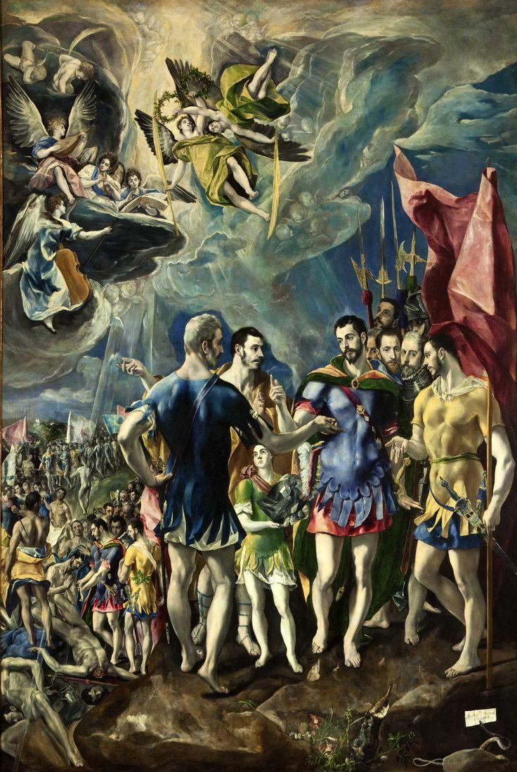Martirio de San Mauricio y la legión Tebana realizado por El Greco entre los años 1580-1582. Óleo sobre lienzo, ubicado en el Monasterio de El Escorial.