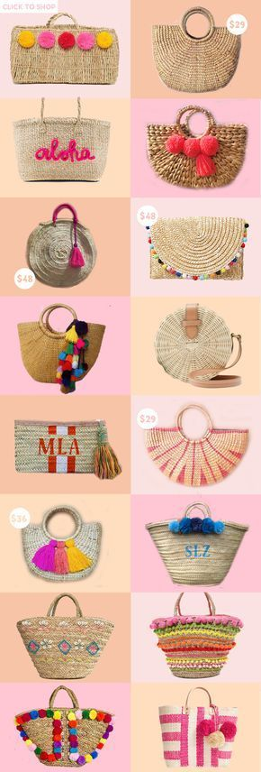 One trend I can't get enough of this season? Straw bags! Today, I'm roun...
