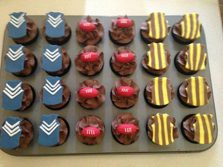 Afl finals cupcakes wwww.cakeartbybec .com