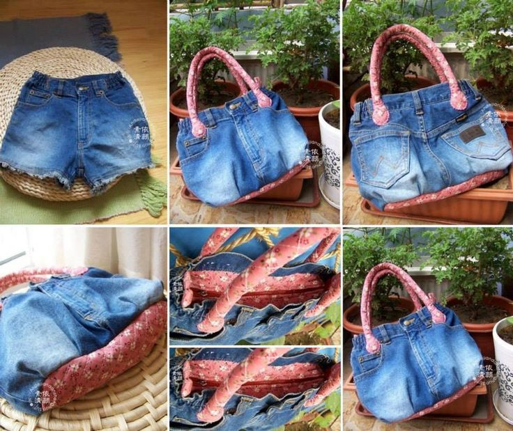 Do you have an old pair of denim shorts that you don't wear anymore? Use them to make a cool bag like this! Do you LIKE this idea? (Cool handbags: #diy #fashion