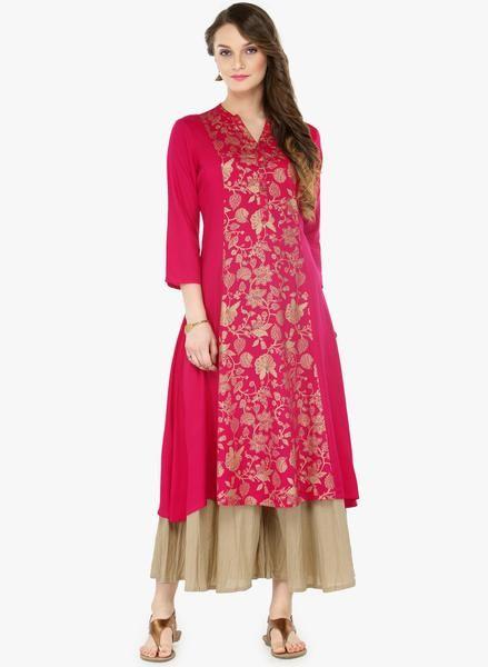 Pink Printed Palazzo Kurta Set Designer Long Kurta Salwar Suit SetShop now the #shoponlinepalazzosuits #suitswithpalazzo #palazzosuits #buypalazzosuitsforwomen's only at Ladyindia.com https://ladyindia.com/collections/palazzo-suits