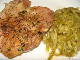 Baked pork chops - made these tonight, they were inhaled. I've been asked to make them again. I left off the butter, mostly because I forgot until after they were in the oven.
