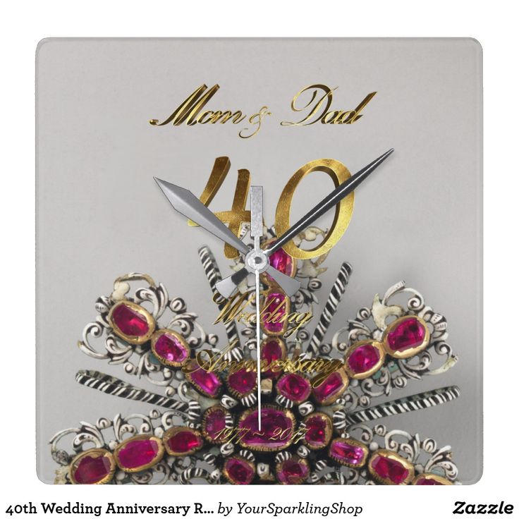 40th Wedding Anniversary Ruby Wedding Parents #rubywedding #40thanniversary #weddinganniversary #40th  #giftforparents