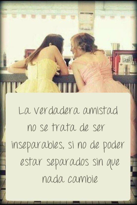 La verdadera amistad no se trata de ser inseparables