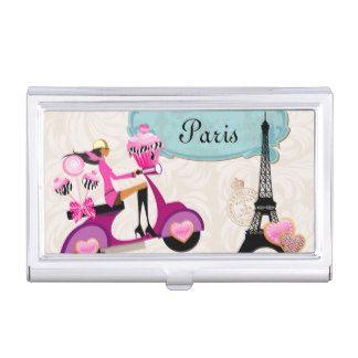 Paris Bakery Cookies Cake Pops Monogram Cupcake Business Card Case