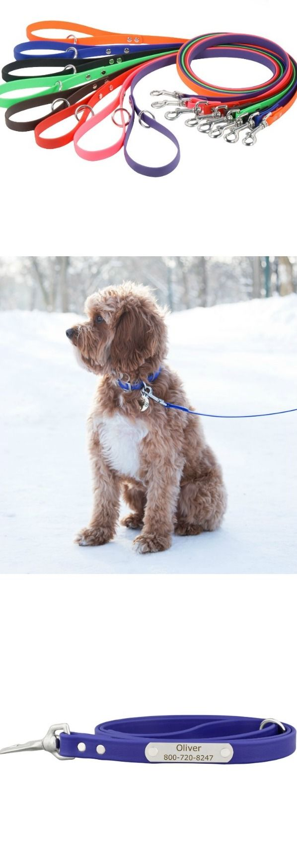 Super soft and durable, our Waterproof Soft Grip Personalized Leashes are in a class of their own. Personalize your weatherproof leash with a laser engraved stainless steel nameplate.