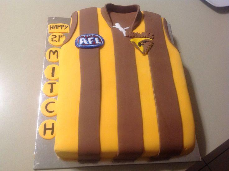 Footy jersey AFL Hawks