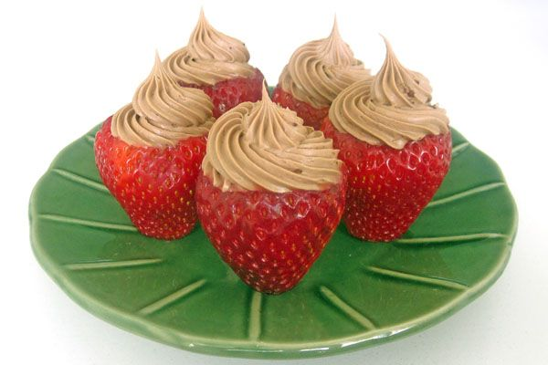Chocolate Whipped Cream Stuffed Strawberries