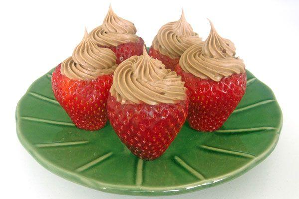 Chocolate Whipped Cream Stuffed Strawberries