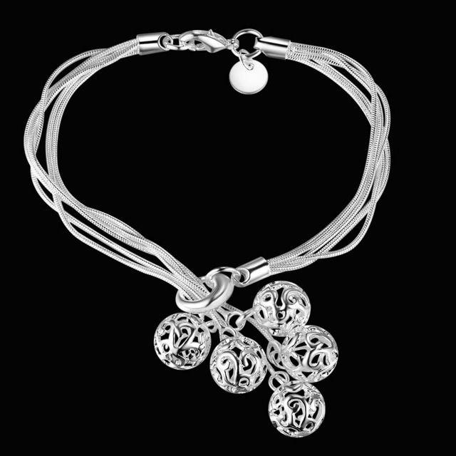 2016 новый роскошный 925 серебро с шарм бусины браслет браслеты все матчи мода женщины цепи и ссылка браслеты…