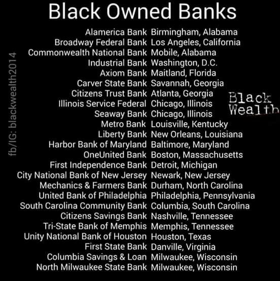 Black owned banks