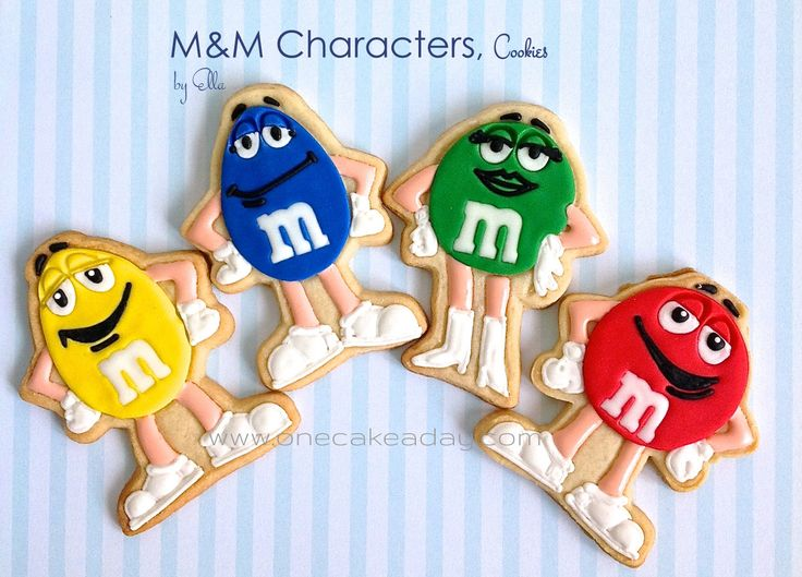 M&M Character Decorated Cookies