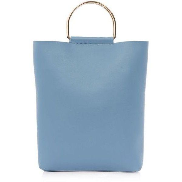 TopShop Seb Metal D-Ring Shopper Bag (£36) ❤ liked on Polyvore featuring bags, handbags, shopper handbag, shopping bag, shopper tote bag, metal purse and topshop bags