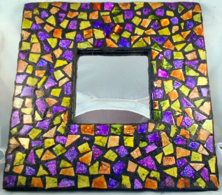 Mosaic tile mirror by TaylorGlassWorks on Etsy https://www.etsy.com/listing/90673379/mosaic-tile-mirror