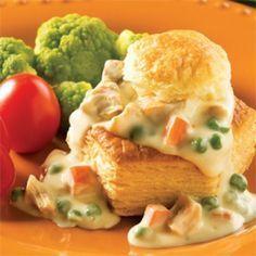 Vol-au-vent au poulet express - Recettes - Cuisine et nutrition - Pratico Pratique