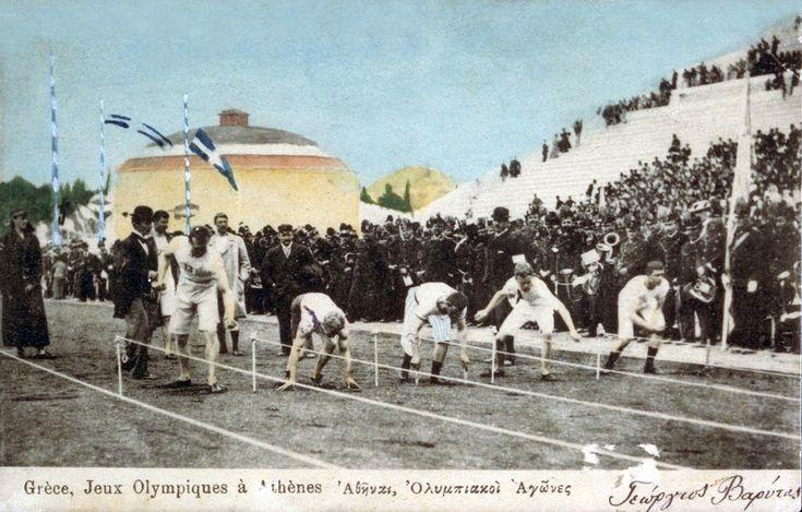 JO athenes 1896 depart du 100 metre