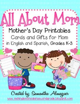 mother 39 s day activities in english and spanish classroom mother 39 s day printables all about. Black Bedroom Furniture Sets. Home Design Ideas