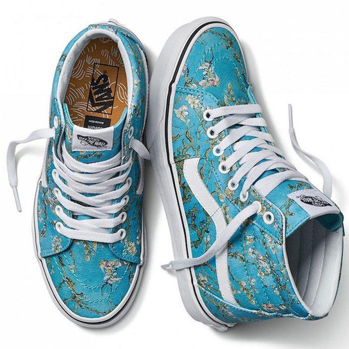 The Vans X Van Gogh Museum Shoe Collection Masterpieces Cool Mom Picks Blue Vans Vans Vans Sneakers