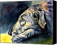 Paws To Reflect Irish Wolfhound Painting by Lyn Cook - Paws To Reflect Irish Wolfhound Fine Art Prints and Posters for Sale