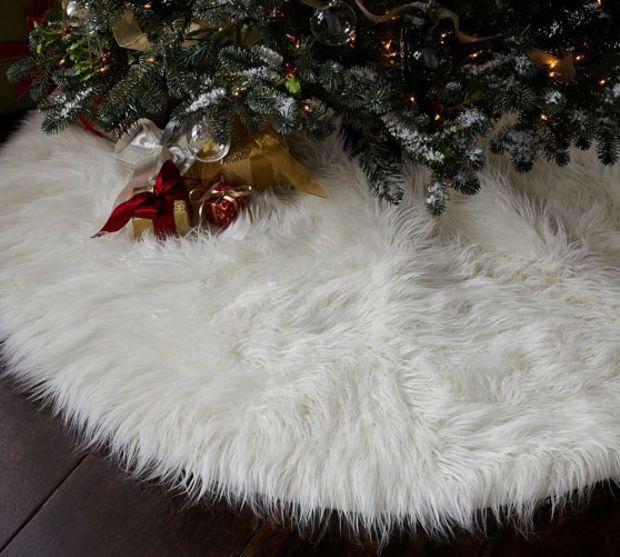 Faux Fur Tree Skirt 102
