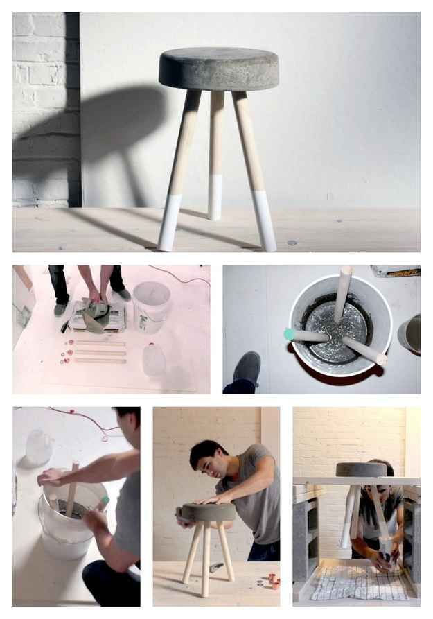 A Dependable Stool | 22 Seriously Cool Cement Projects You Can Make At Home