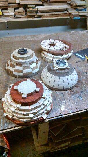 Segment bowl glue ups.