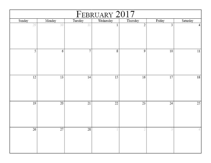 1000+ ideas about February 2016 Calendar Template on Pinterest ...