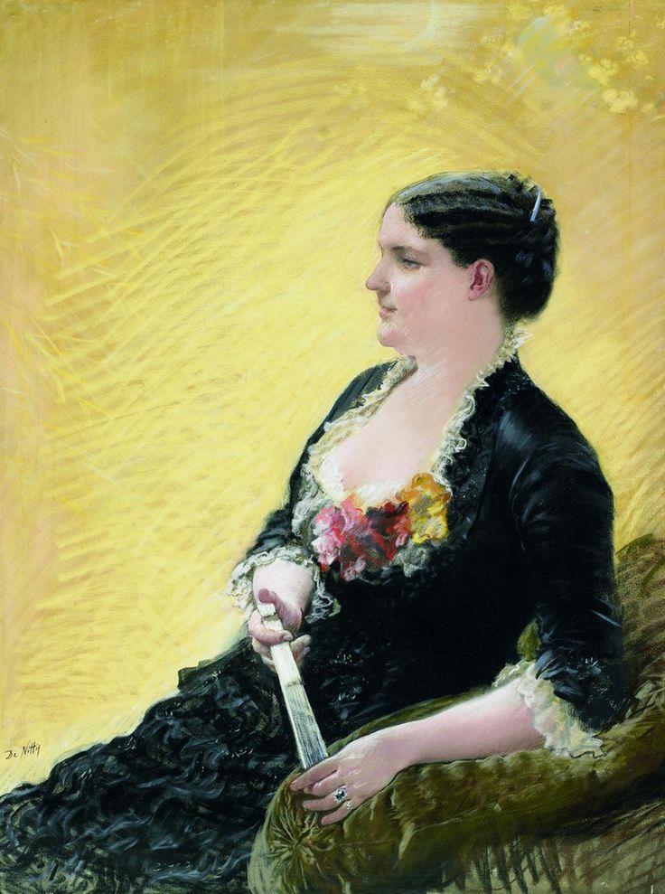 Giuseppe de Nittis (1846-1884) - Portrait of Madame José Maria Heredia, 1881