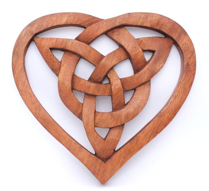 Wandbild ~ FIONA ~ Keltisches Herz - aus Holz - Wandschmuck Celtic - Windalf