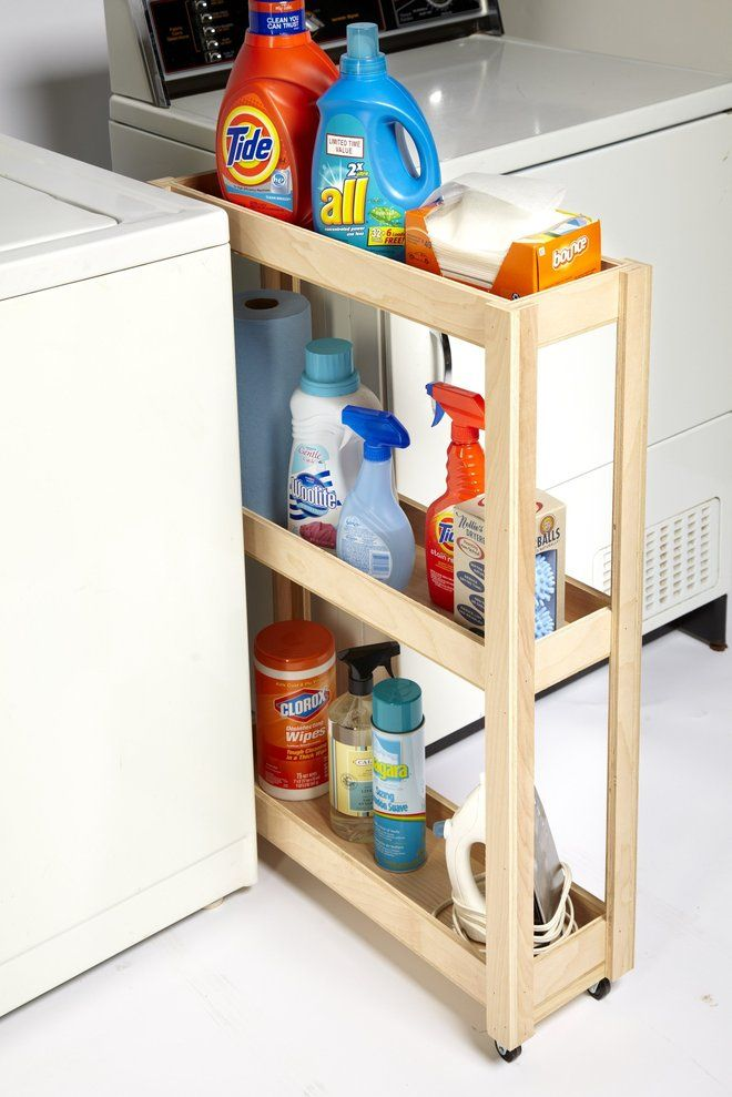 Three Tier Slim Independent Mobile Pull Out, To Organize Small Storage