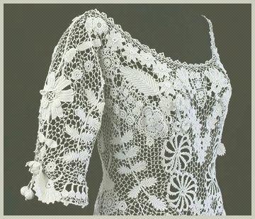 Crochet: encaje irlandés. Lecciones de Punto y esquemas