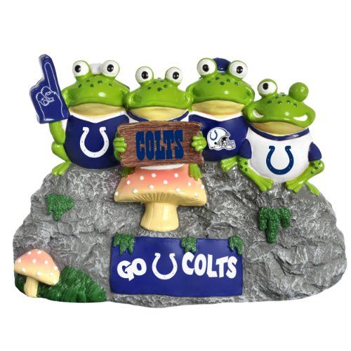 NFL Indianapolis Colts Frog Fan Bench - Forever Collectibles offers a full line of 100% officially licensed team merchandise. We offer a complete line of home décor, garden décor, novelty, apparel, tech accessories and seasonal items.  - http://ehowsuperstore.com/bestbrandsales/home-garden/nfl-indianapolis-colts-frog-fan-bench