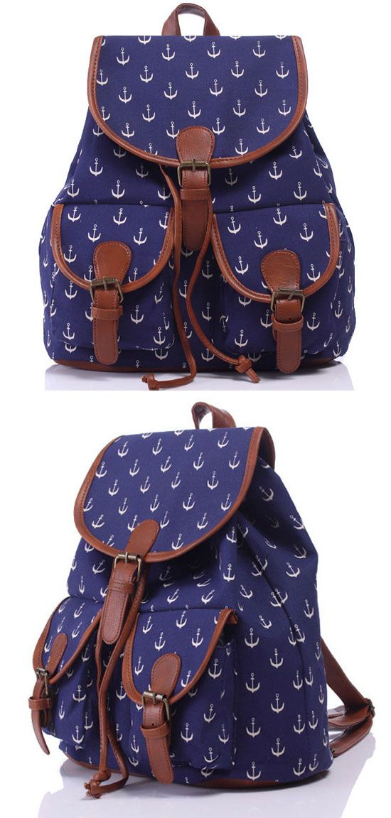 It is a so cute anchor backpack! #anchor #backpack #college #bag