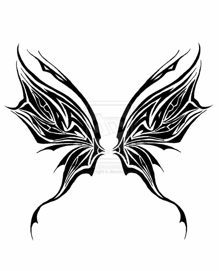 Tribal Fairy Wings Ink Fairy Wing Tattoos Tattoos