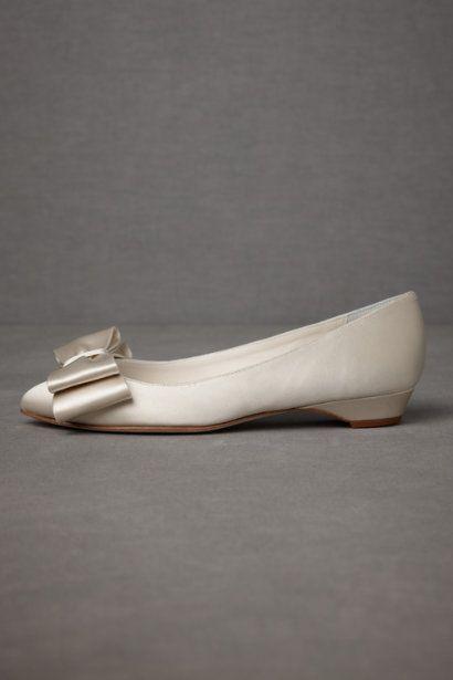 Ivory Bowtie Flats | BHLDN