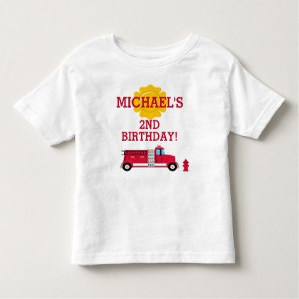 Fire Truck Birthday T-shirt Toddler Kid - toddler youngster infant child kid gift idea design diy