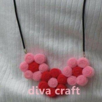 kalung bunga flanel 2 IDR 15.000/pcs  kode : KL_2 (warna yg di pesan)  FORMAT ORDER : kode_warna_jumlah_nama_alamat lengkap_no hp.   ORDER: sms/WA : 087840331112   Pin BB : 74D5B684   Diva Craft