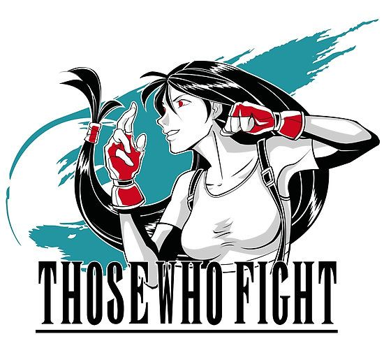 """""""Those Who Fight"""" - Tifa Lockhart - Final Fantasy VII - by Kingsandqueens on RedBubble"""