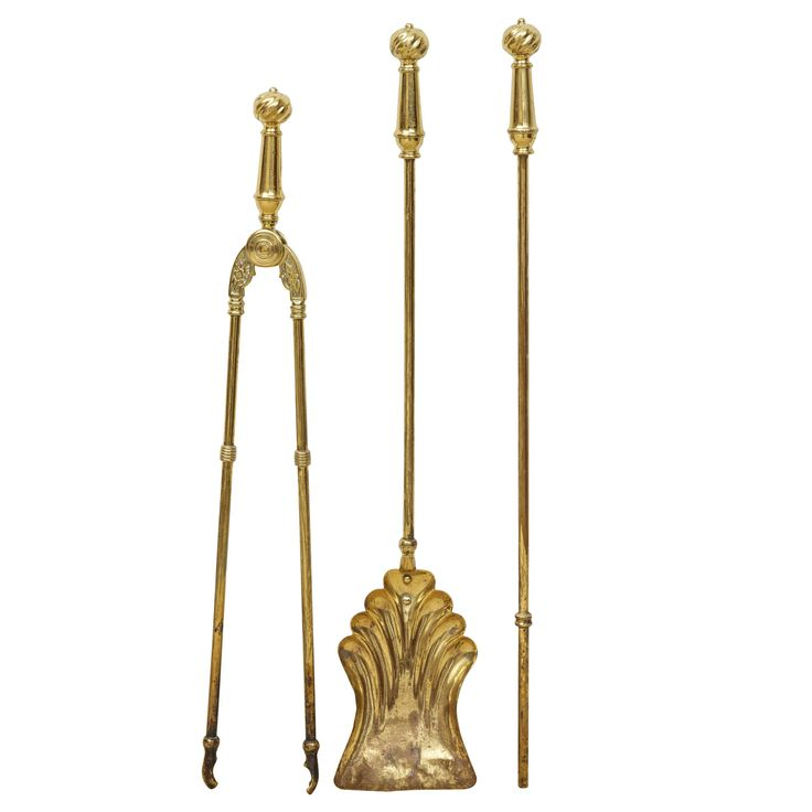 A Victorian three piece set of brass fire irons - 17 Best Ideas About Victorian Fireplace Tools On Pinterest Retro