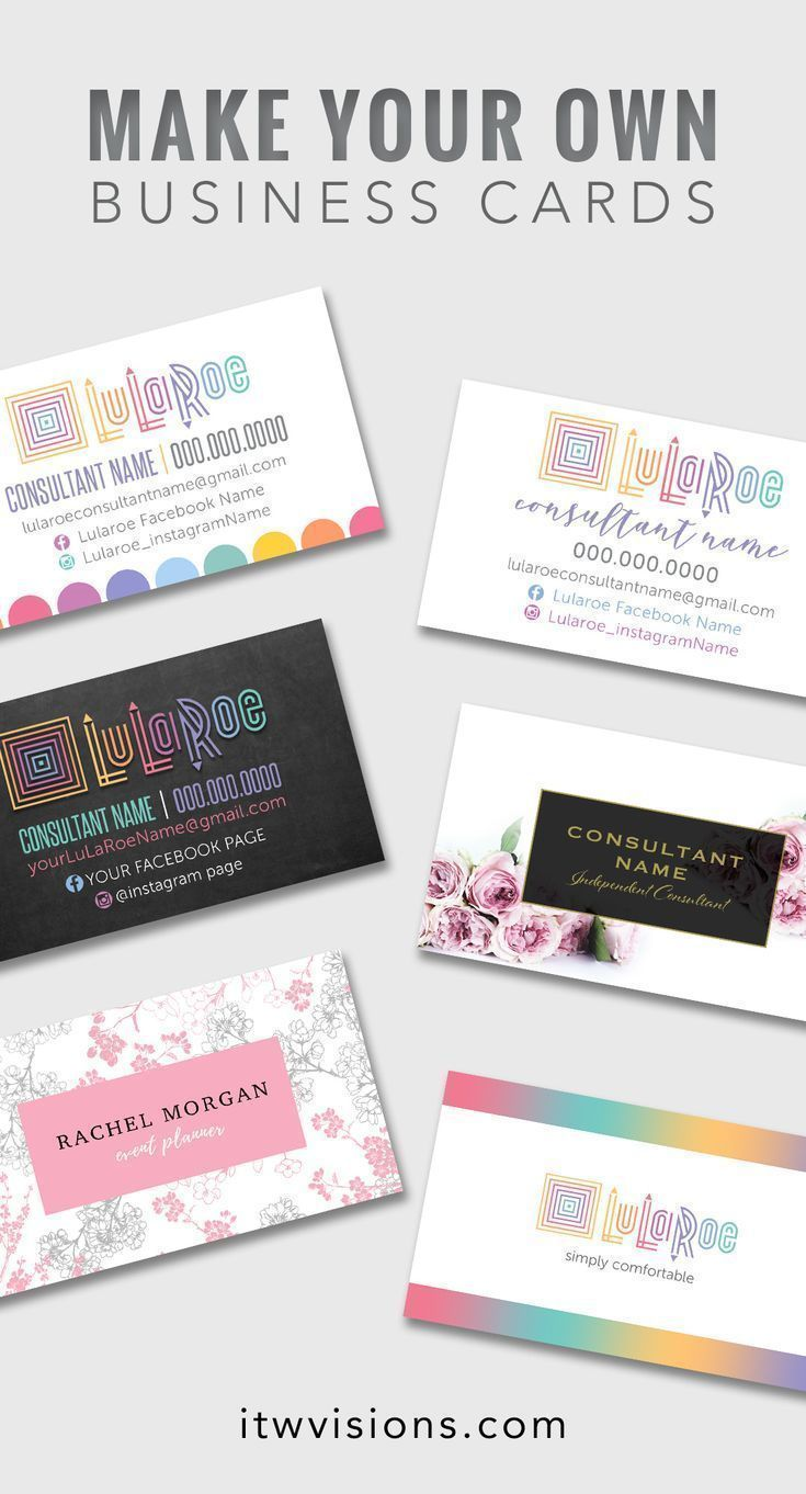 Make Your Own Lularoe Business Cards With Already Designed Templates To Choose From Lularoe Business Cards Free Business Card Templates Business Card Template