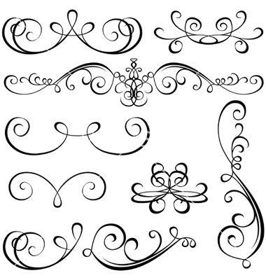 Calligraphic elements vector by derocz- Flourish