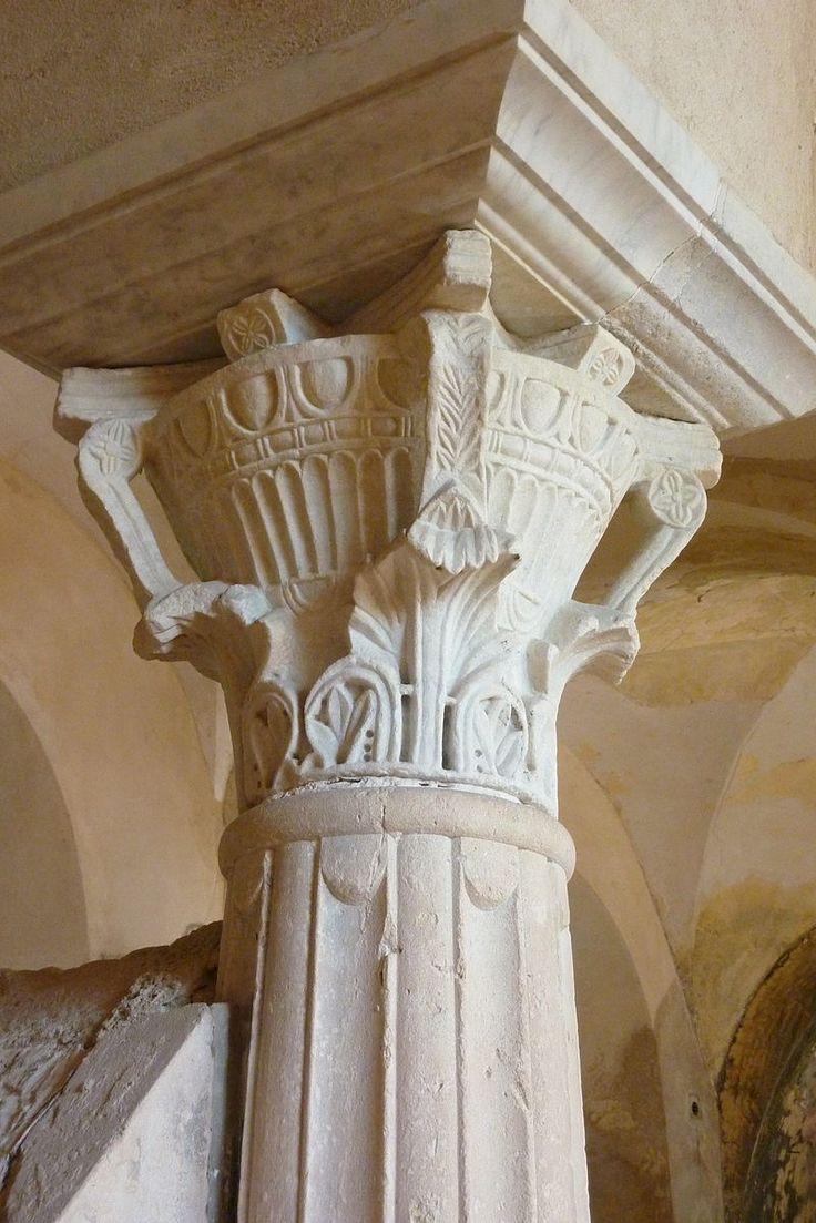 Chapiteau de la crypte Saint Paul - Abbaye Notre-Dame de Jouarre