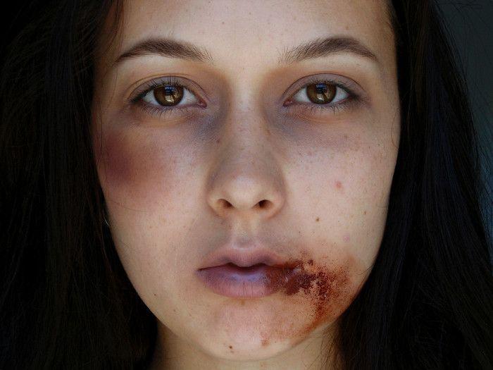 креативный макияж, грим для лица, шрамы, синяки, макияж на хэллоуин