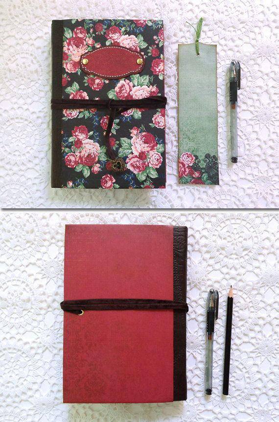 Romantic floral scrapbook album journal for your lovely