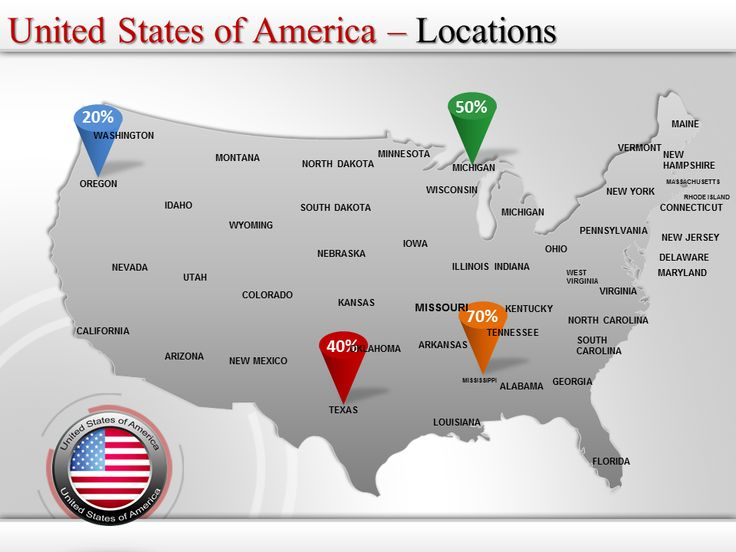 powerpoint usa map