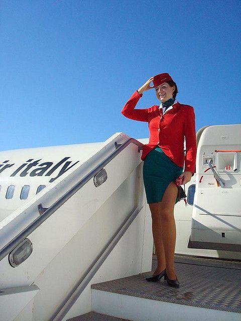 Air Italy beautiful stewardess