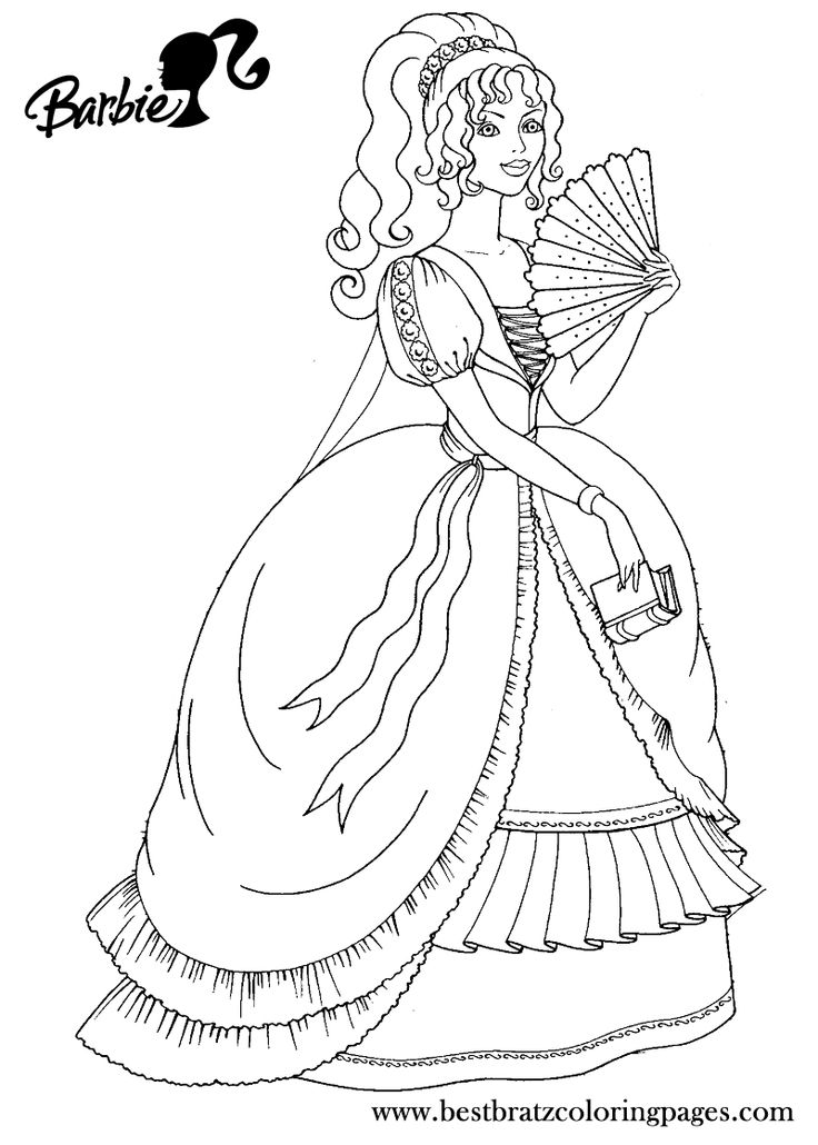 p is for princess coloring pages - photo #36