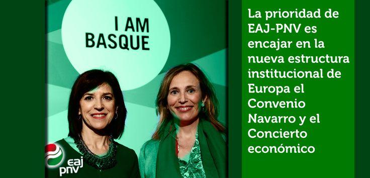"""Izaskun Bilbao: """"La prioridad de EAJ-PNV es encajar en la nueva estructura institucional de Europa el Convenio Navarro y el Concierto económico""""."""