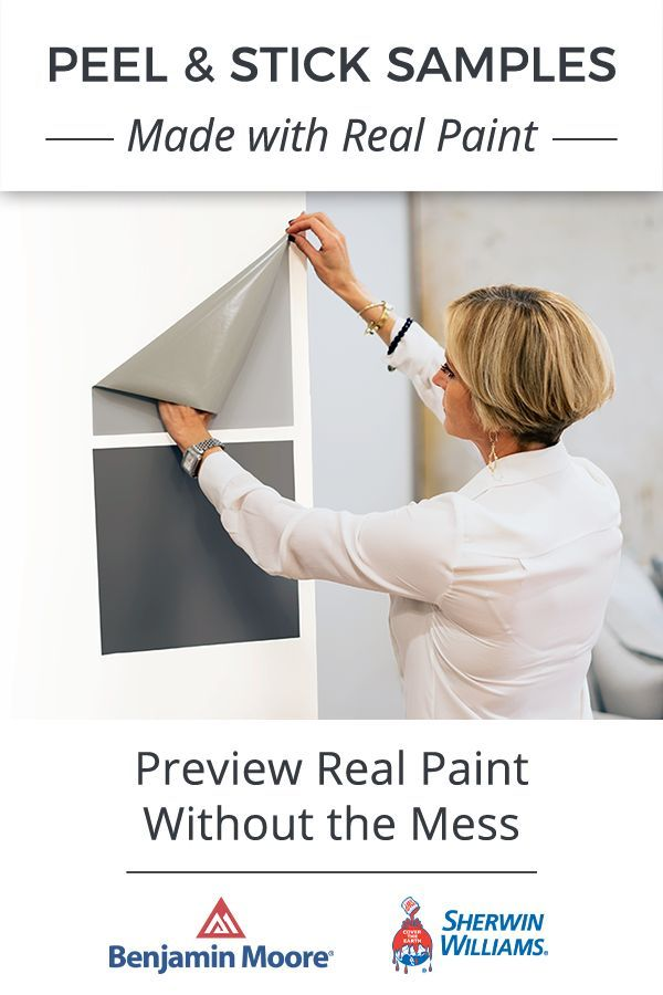 Overwhelmed By Paint Color Peel Stick Samples Take Out All The Guesswork Made With Genuine Benjamin Moore A Paint Colors Paint Colors For Home House Colors
