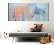 peach abstract art beige painting orange contemporary artwork white modern art canvas painting oil pastel art wall art interior decor home decor original textured painting acrylic art stretched gallery wrapped canvas ready to hang one of a kind unique artwork